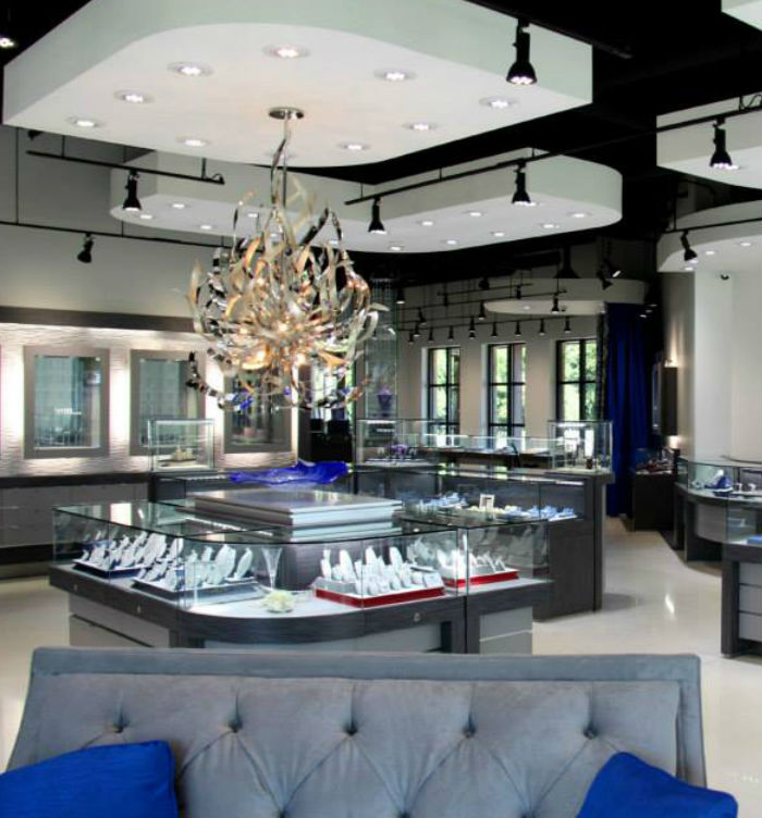 Led Jewelry Store Amp Luxury Brand Lighting Diamond Led